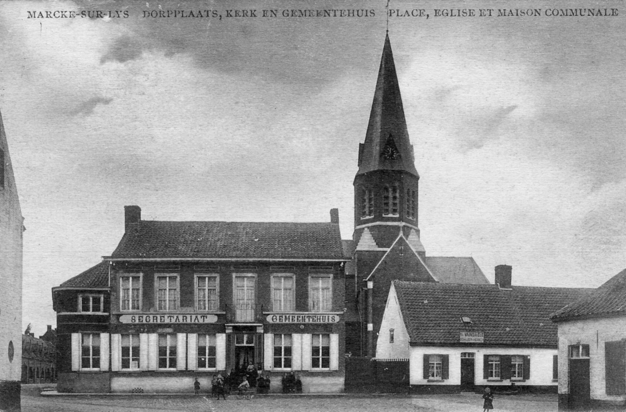 """Café """"Gemeentehuis"""" in Marke in 1907"""