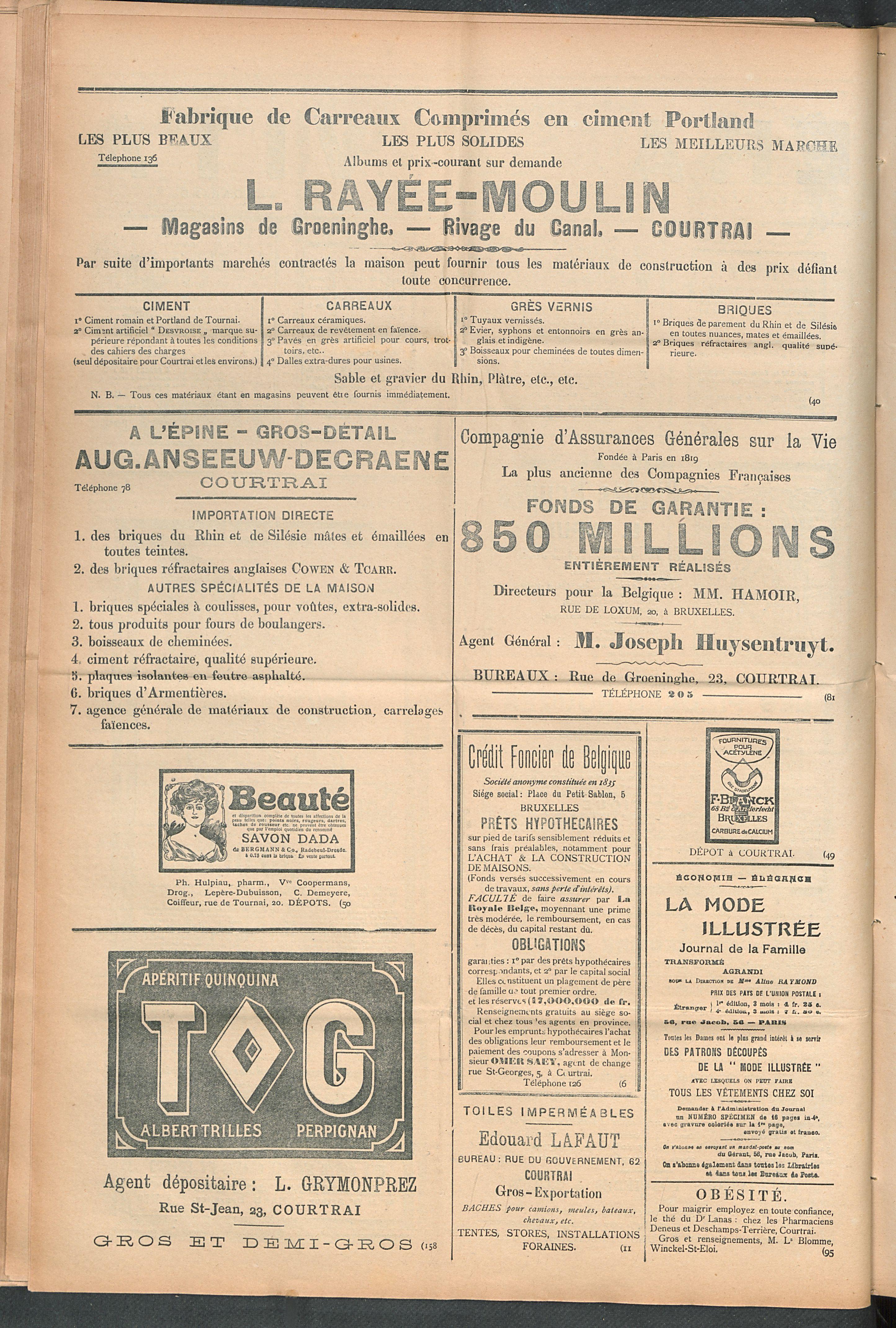 L'echo De Courtrai 1910-09-04 p6