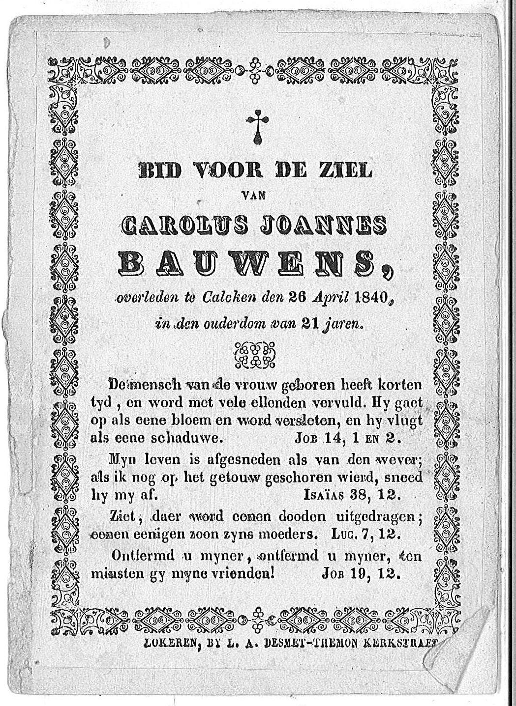 Carolus Joannes Bauwens