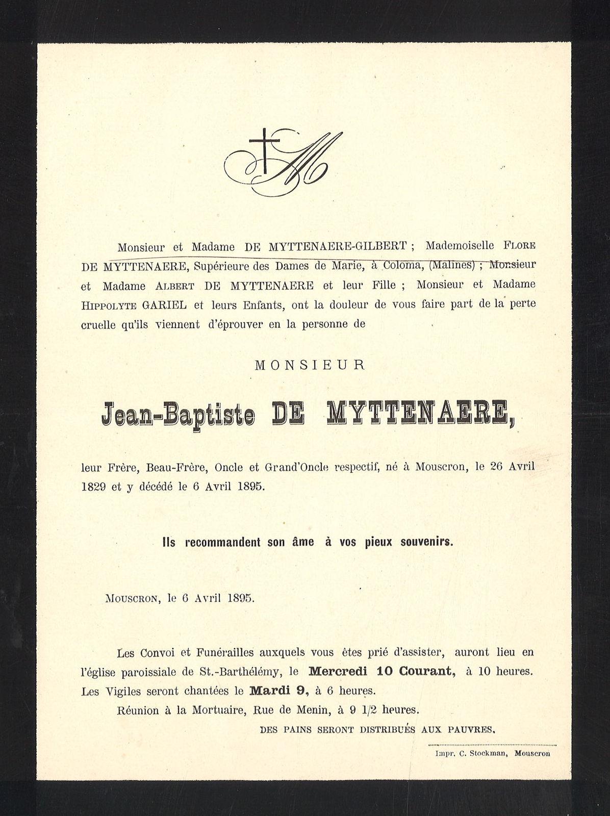 Jean-Baptiste De Myttenaere