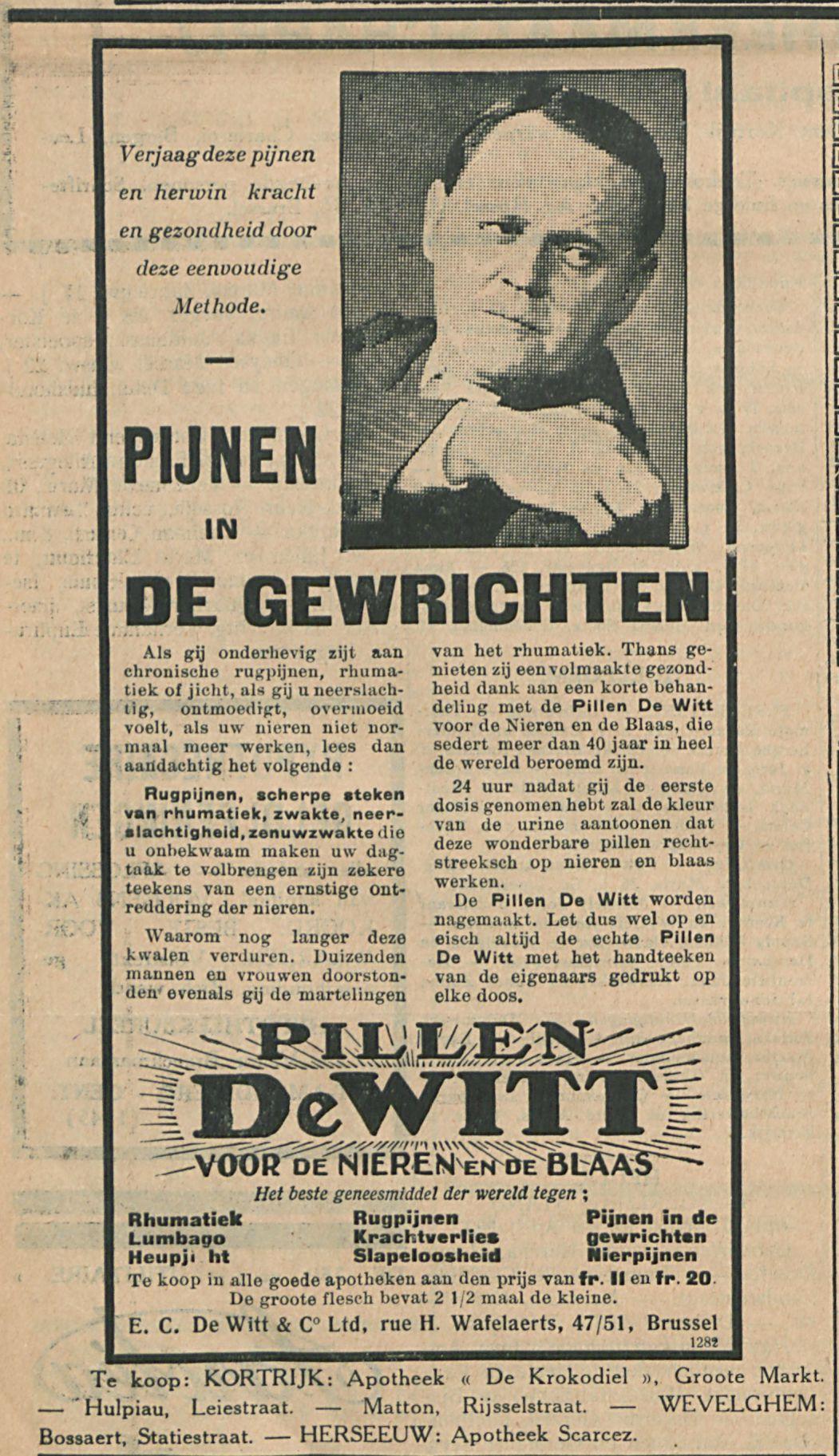 PILLEN DE WITT