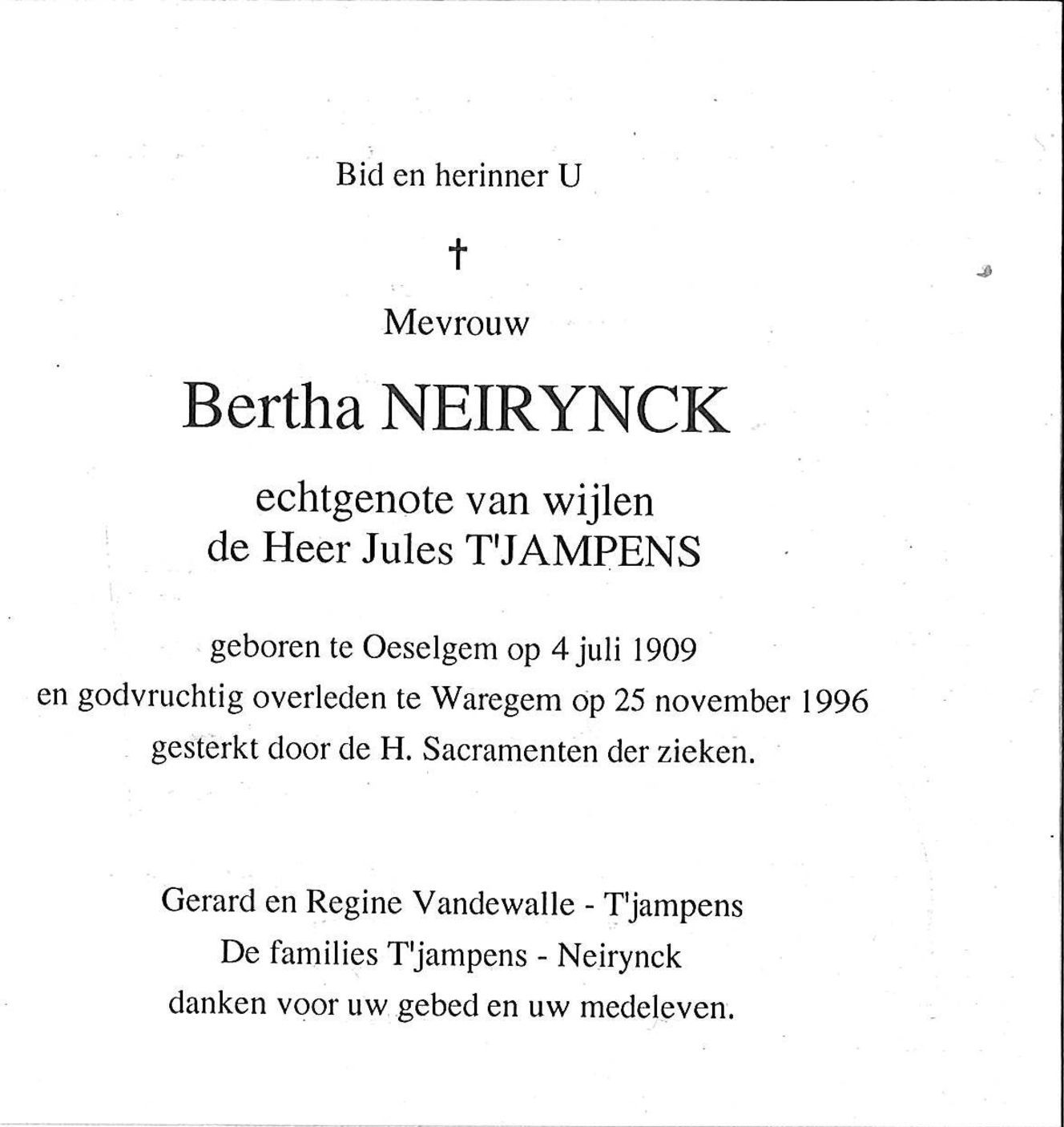 Bertha Neirynck