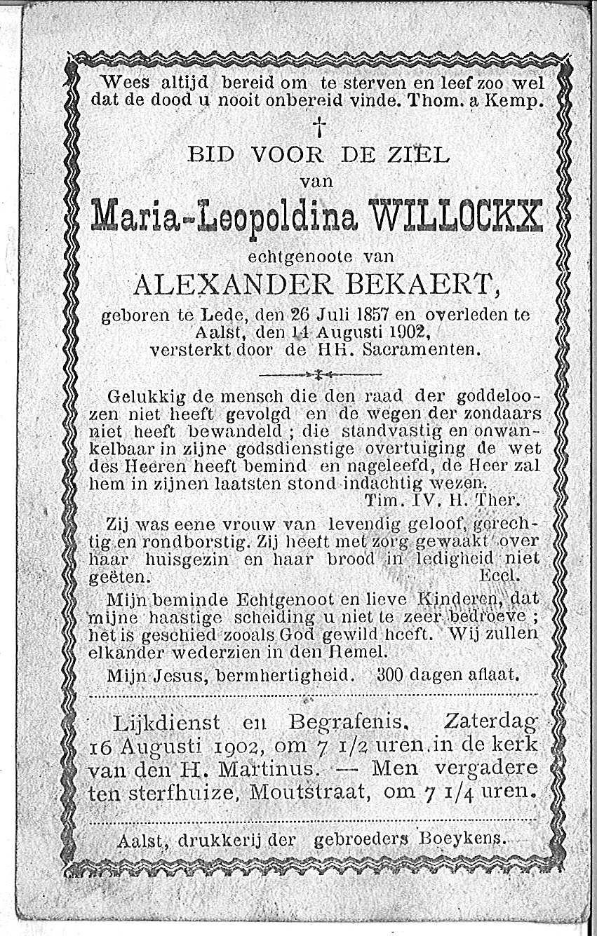 Maria-Leopoldina Willockx