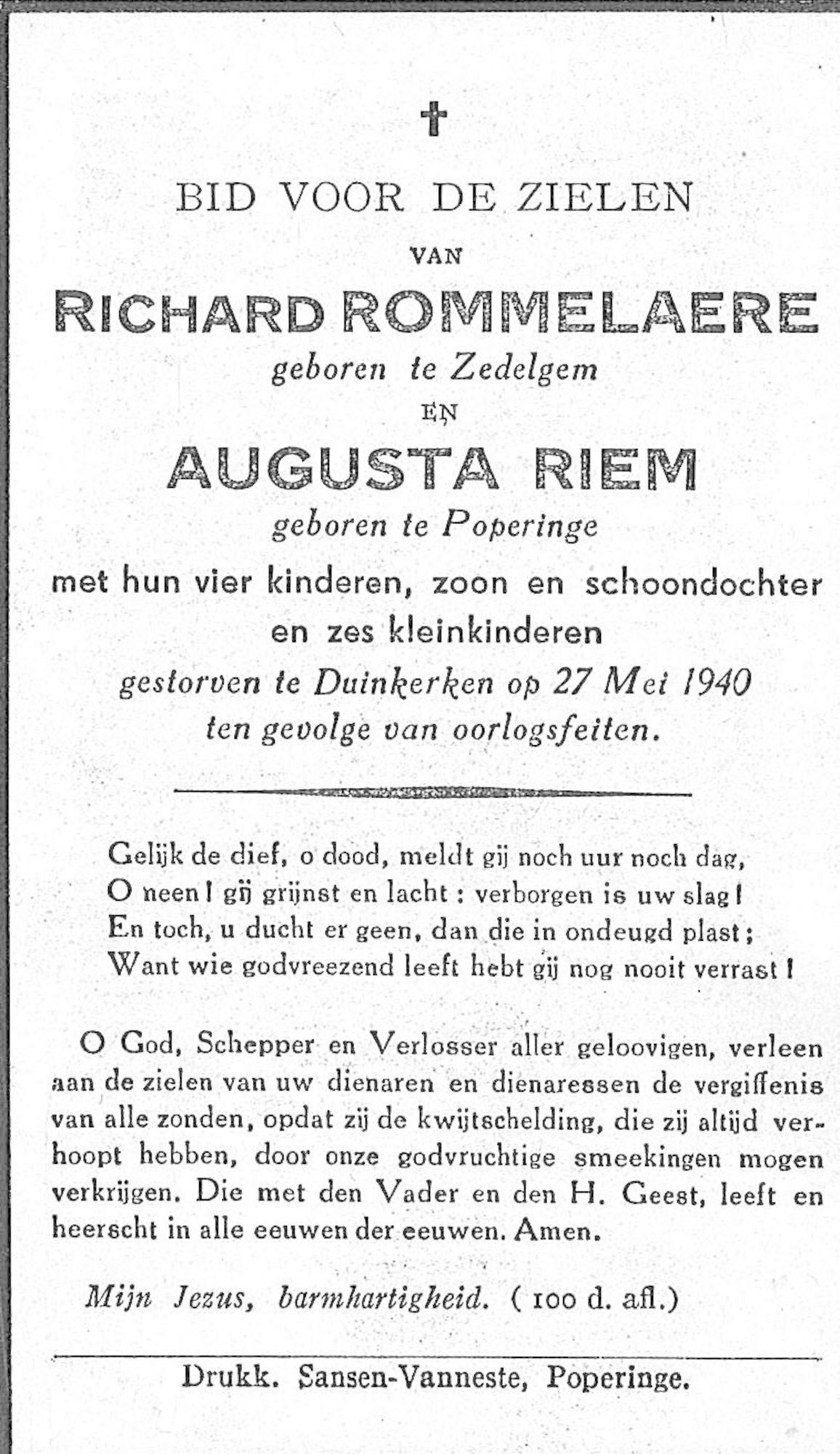 Richard Rommelaere en Augusta Riem