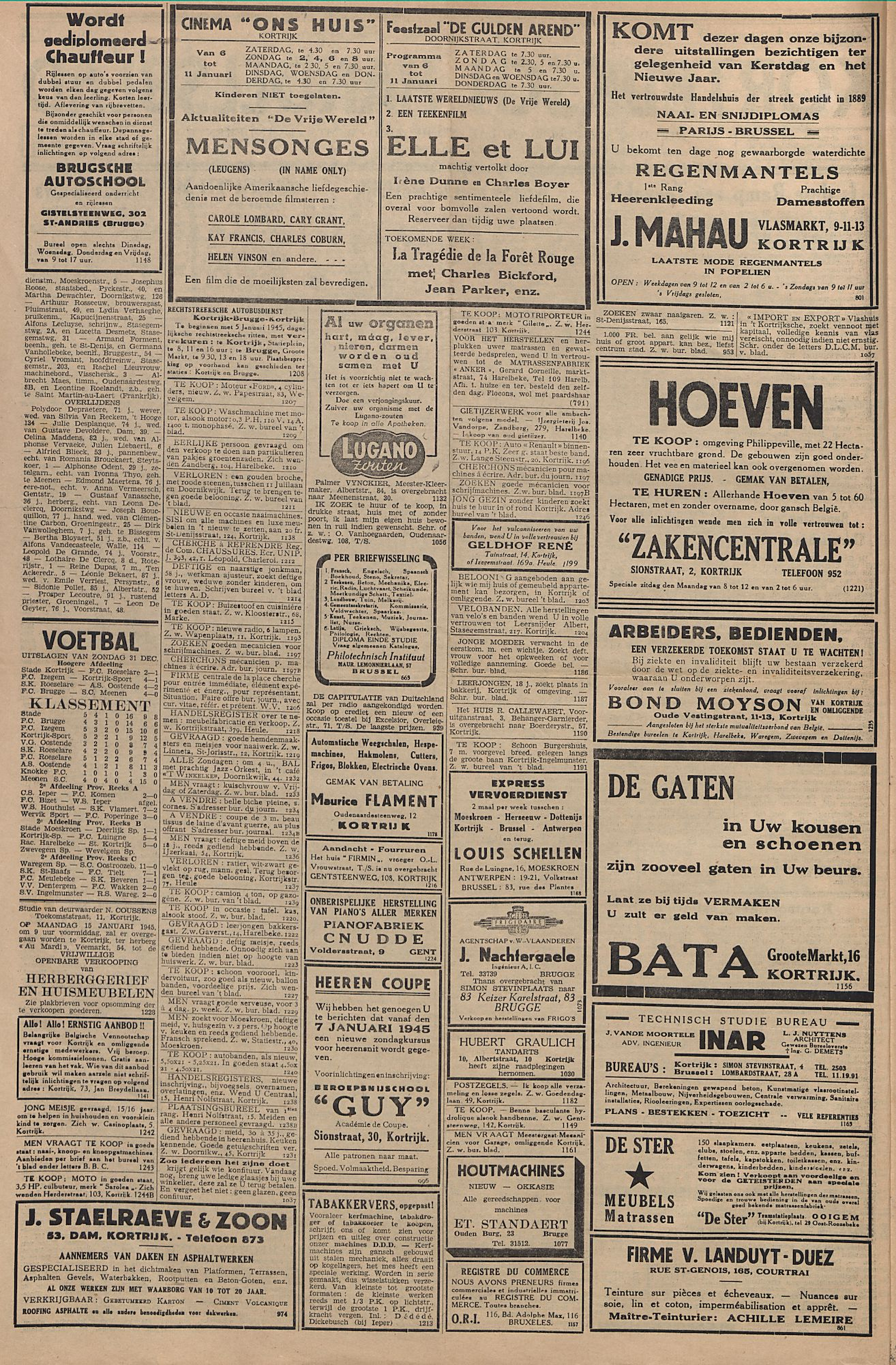 Kortrijksch Handelsblad 6 januari 1945 Nr2 p2