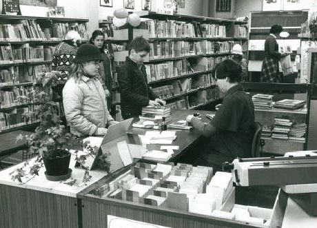 Bibliotheek in Guido Gezellestraat 1970
