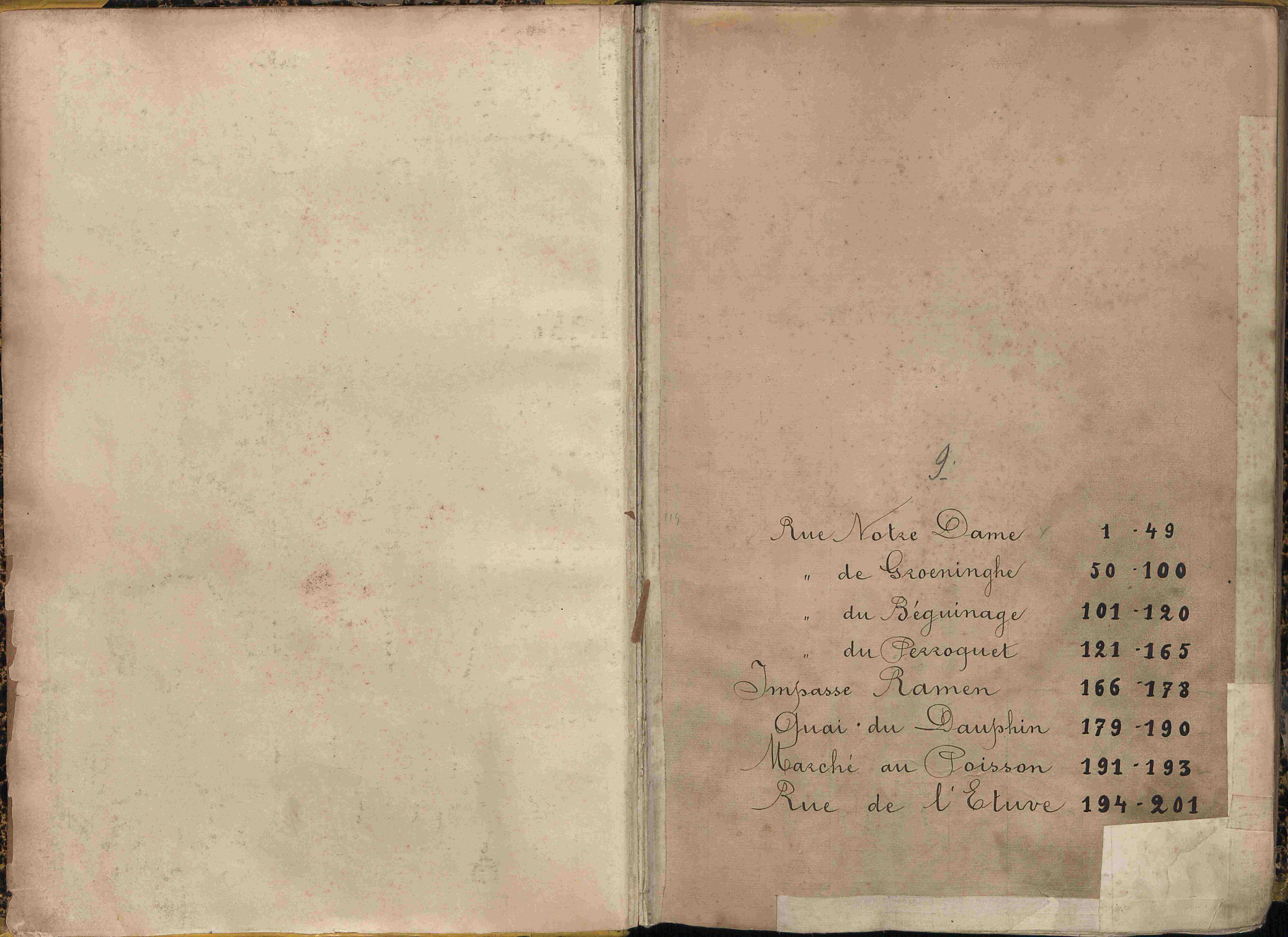 Bevolkingsregister Kortrijk 1890 boek 9