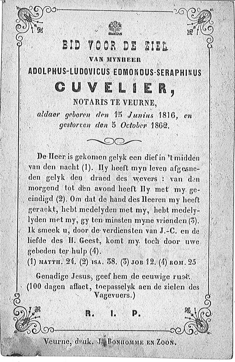 Adolphus-Ludovicus-Edmondus-Seraphinus Cuvelier