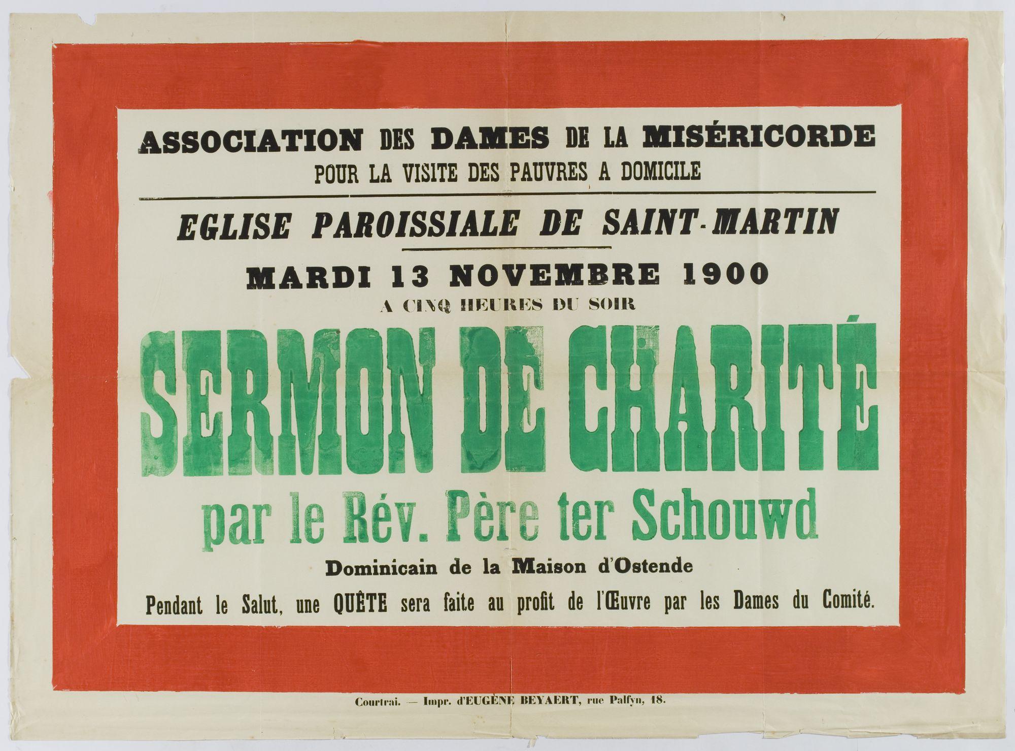 Plechtigheden Sint Maartenskerk 1900