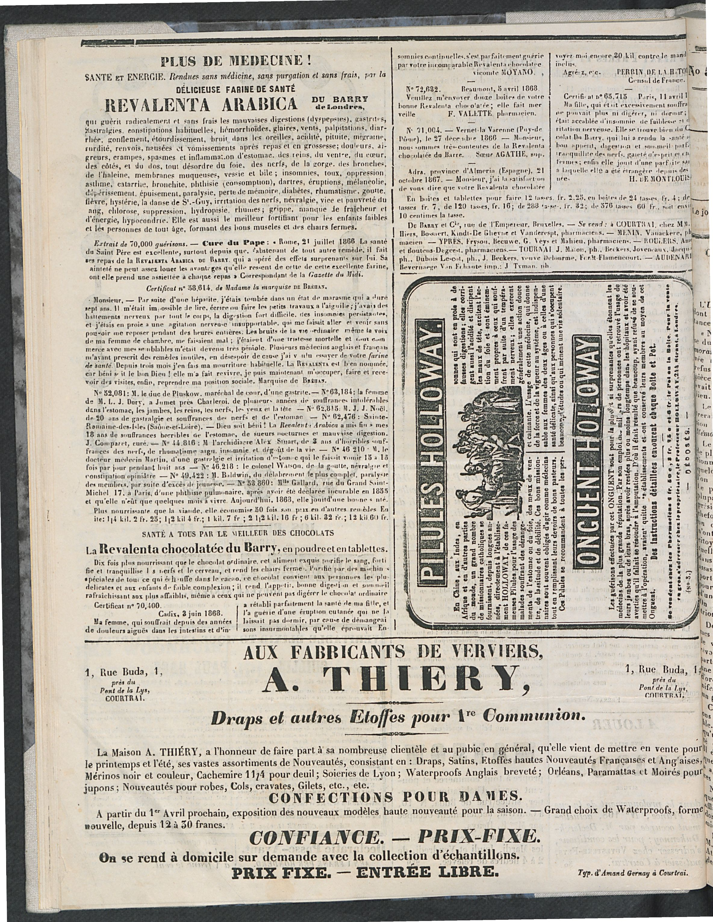 L'echo De Courtrai 1870-05-01 p6
