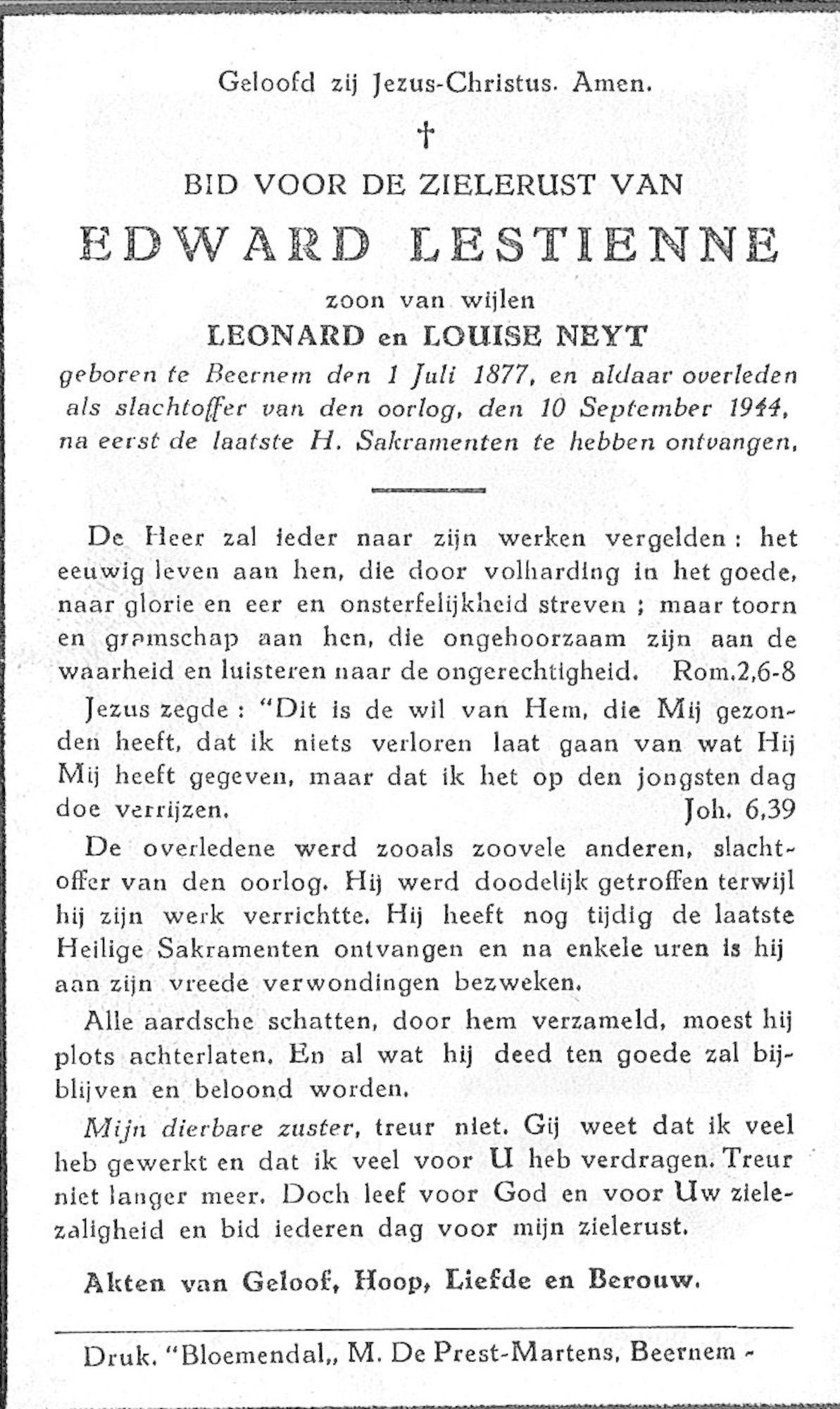 Edward Lestienne