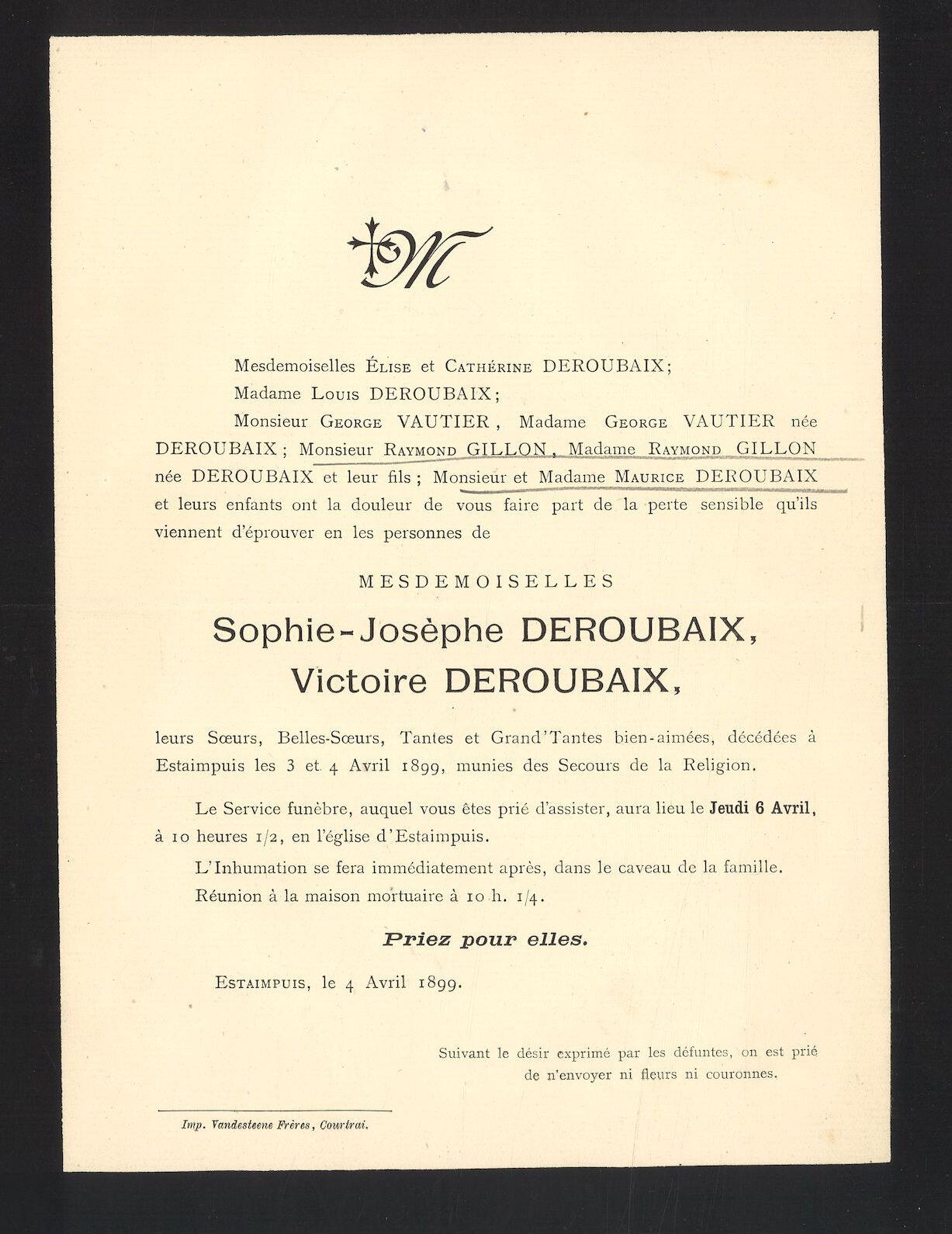 Sophie-Josèphe en Victoire Deroubaix