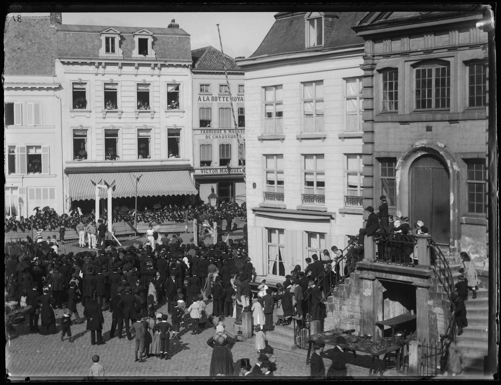 Turnfeesten op de Grote Markt in 1882