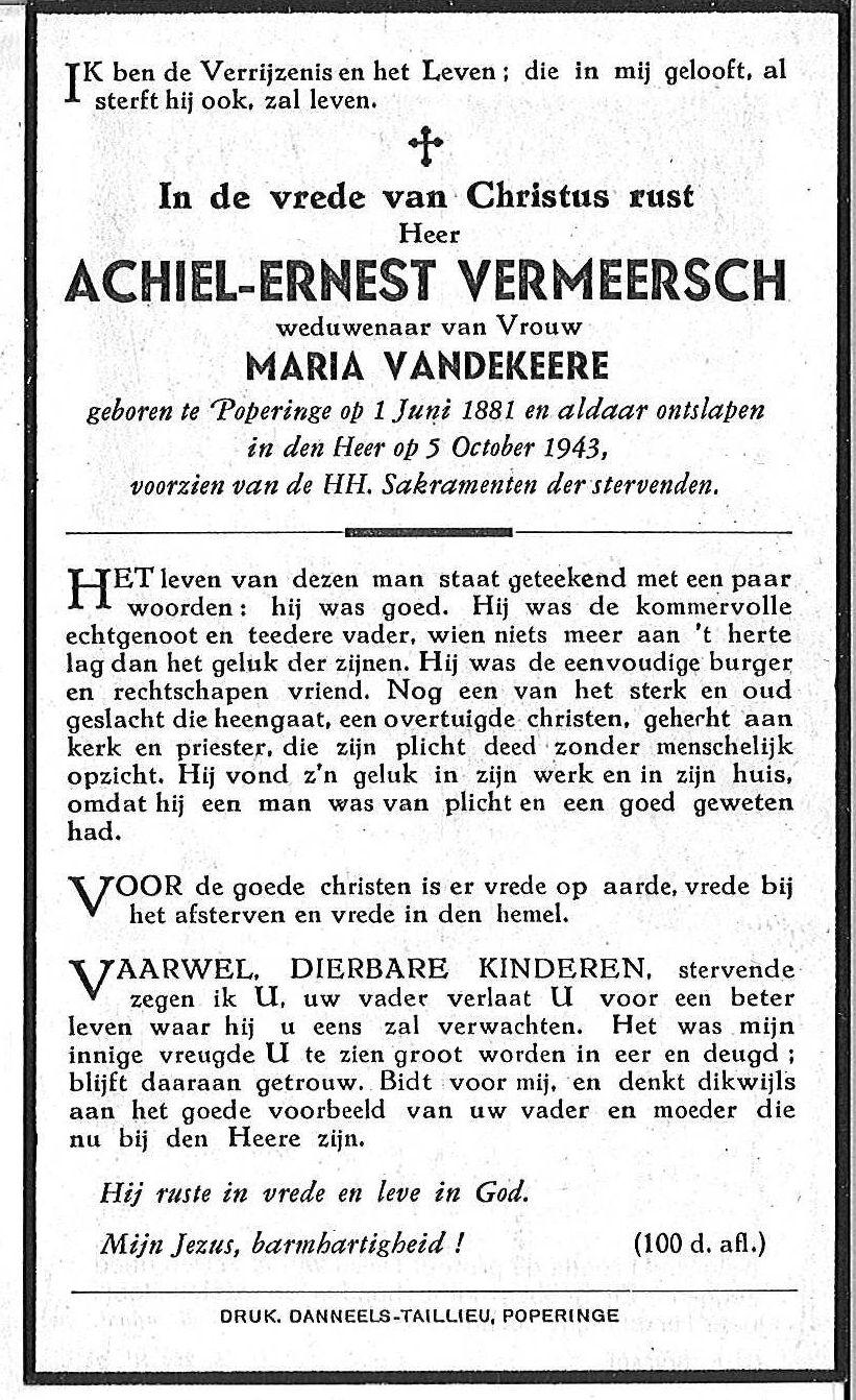 Achiel-Ernest Vermeersch