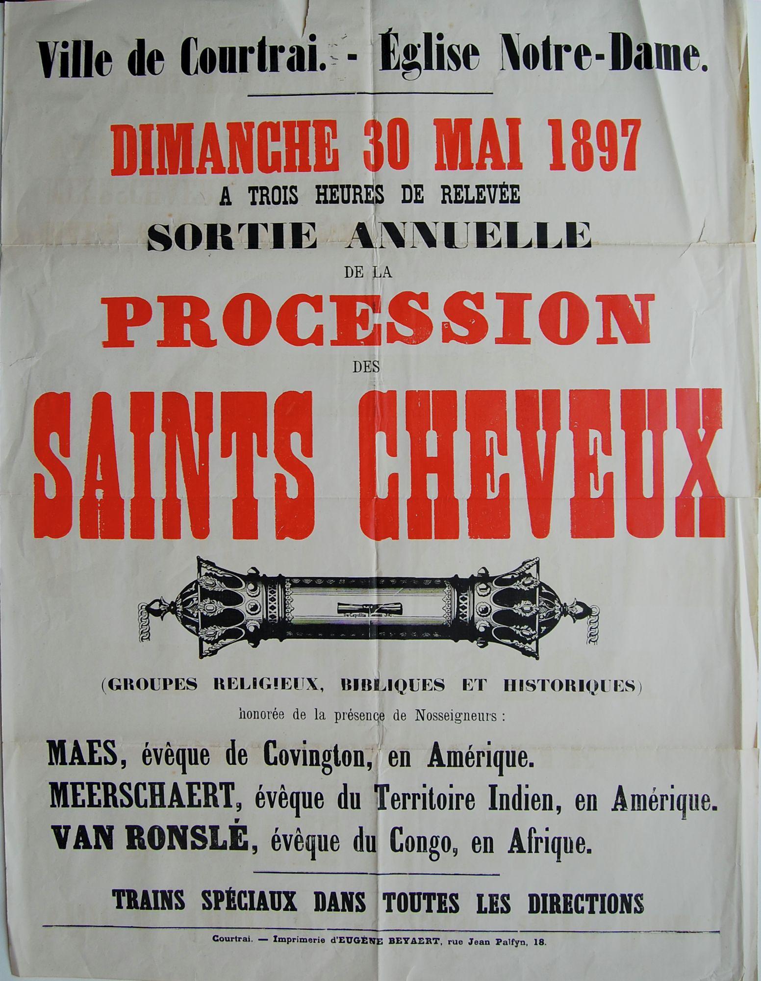 Heilig Haarprocessie in 1897