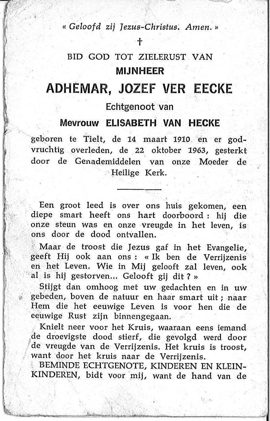 Adhemar Jozef Ver Eecke