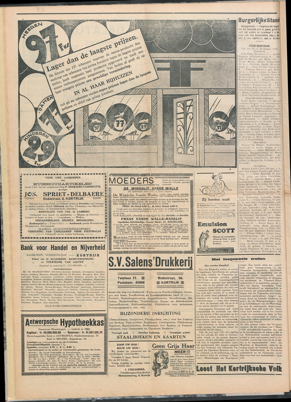 Het Kortrijksche Volk 1929-02-03 p4