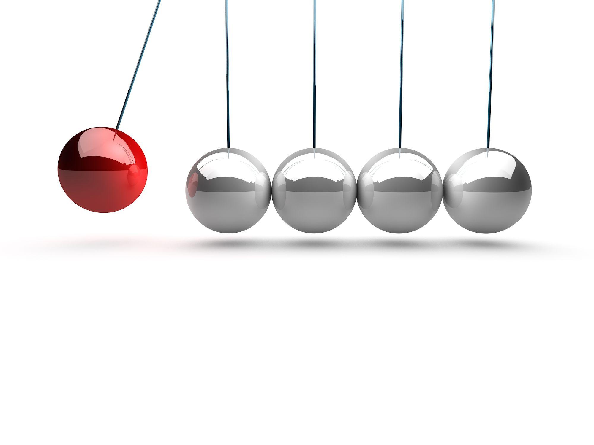 Newton's balance balls