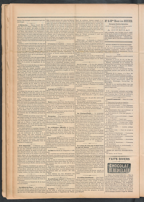 L'echo De Courtrai 1911-06-11 p2