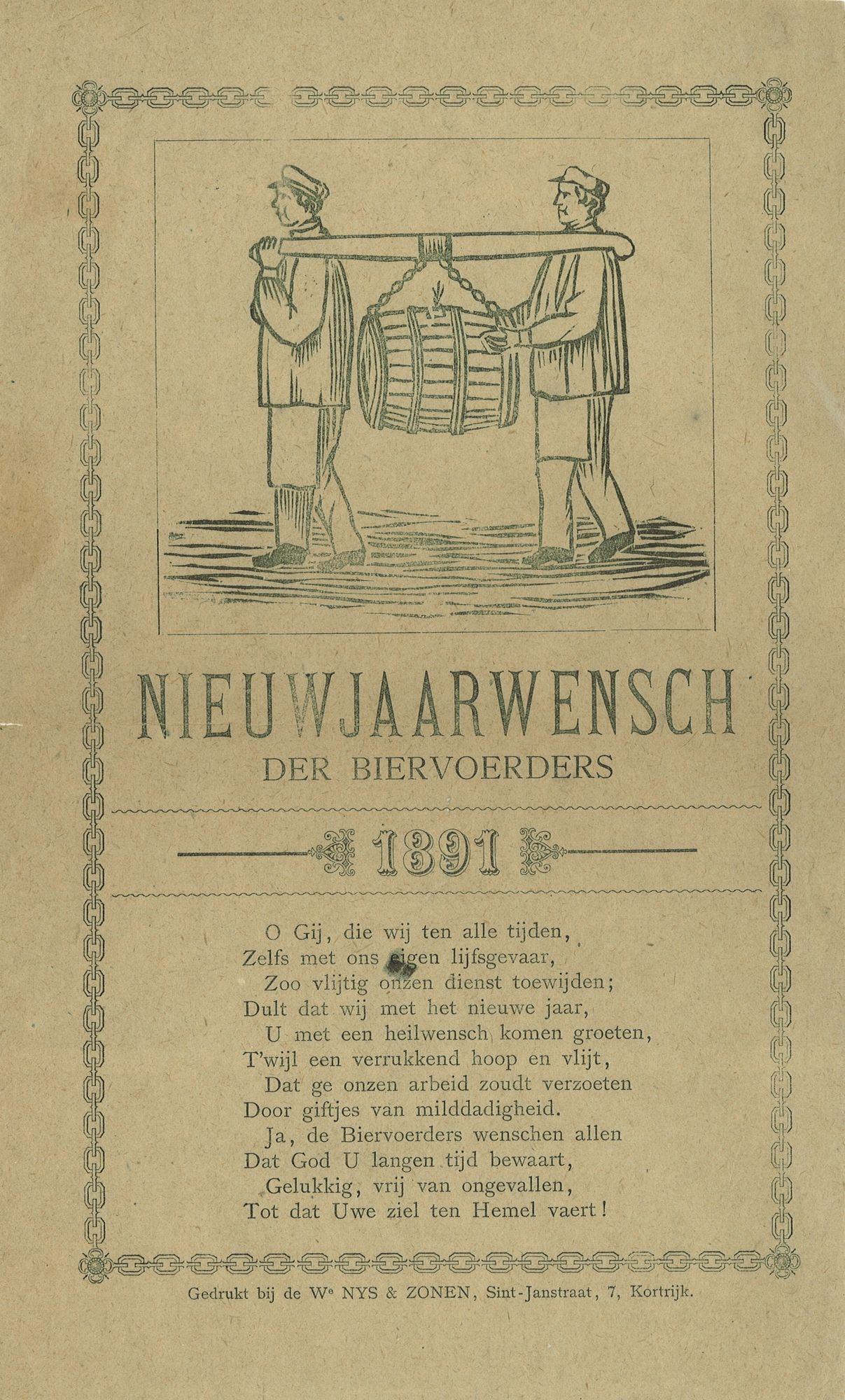 Nieuwjaarswensen 1891