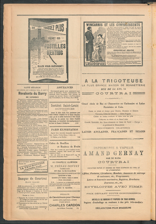 L'echo De Courtrai 1911-01-29 p4