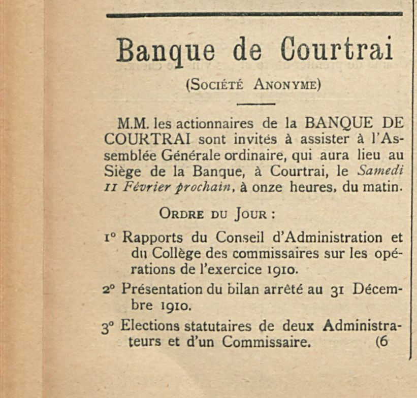 Banque de Courtrai