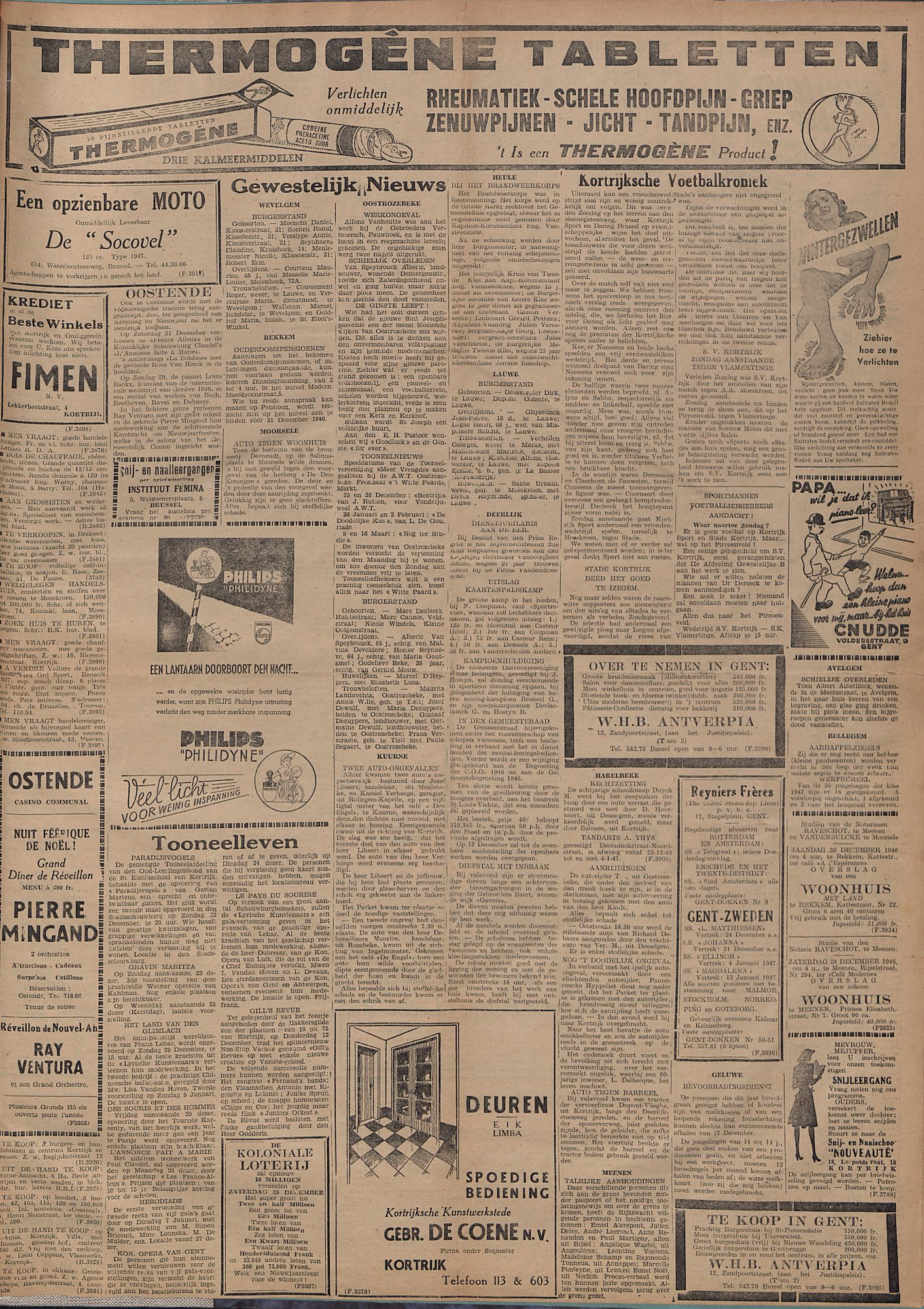 Kortrijksch Handelsblad 20 december 1946 Nr102 p3