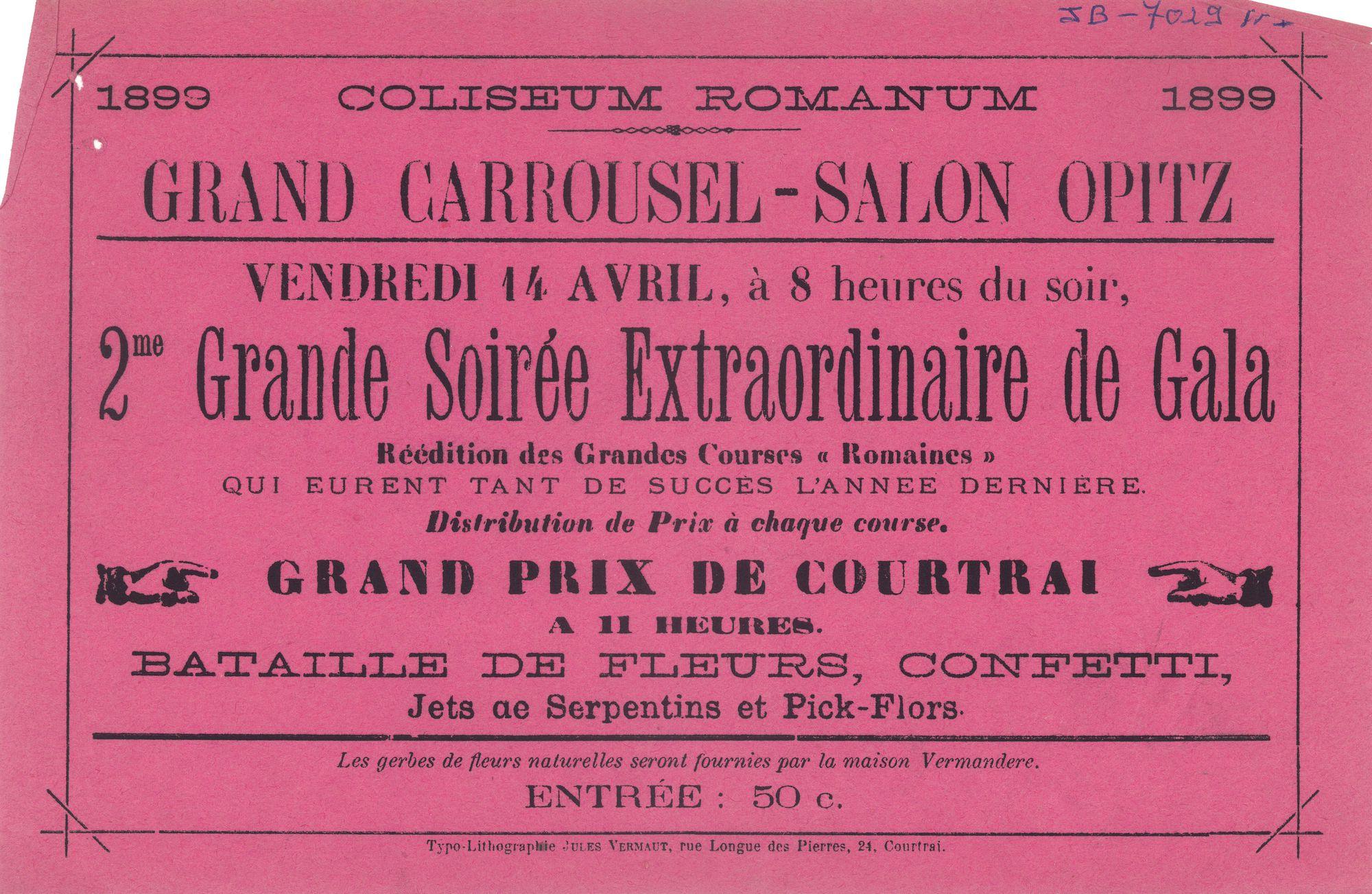 Paasfoor 1899: Grand Carrousel-Salon OPITZ