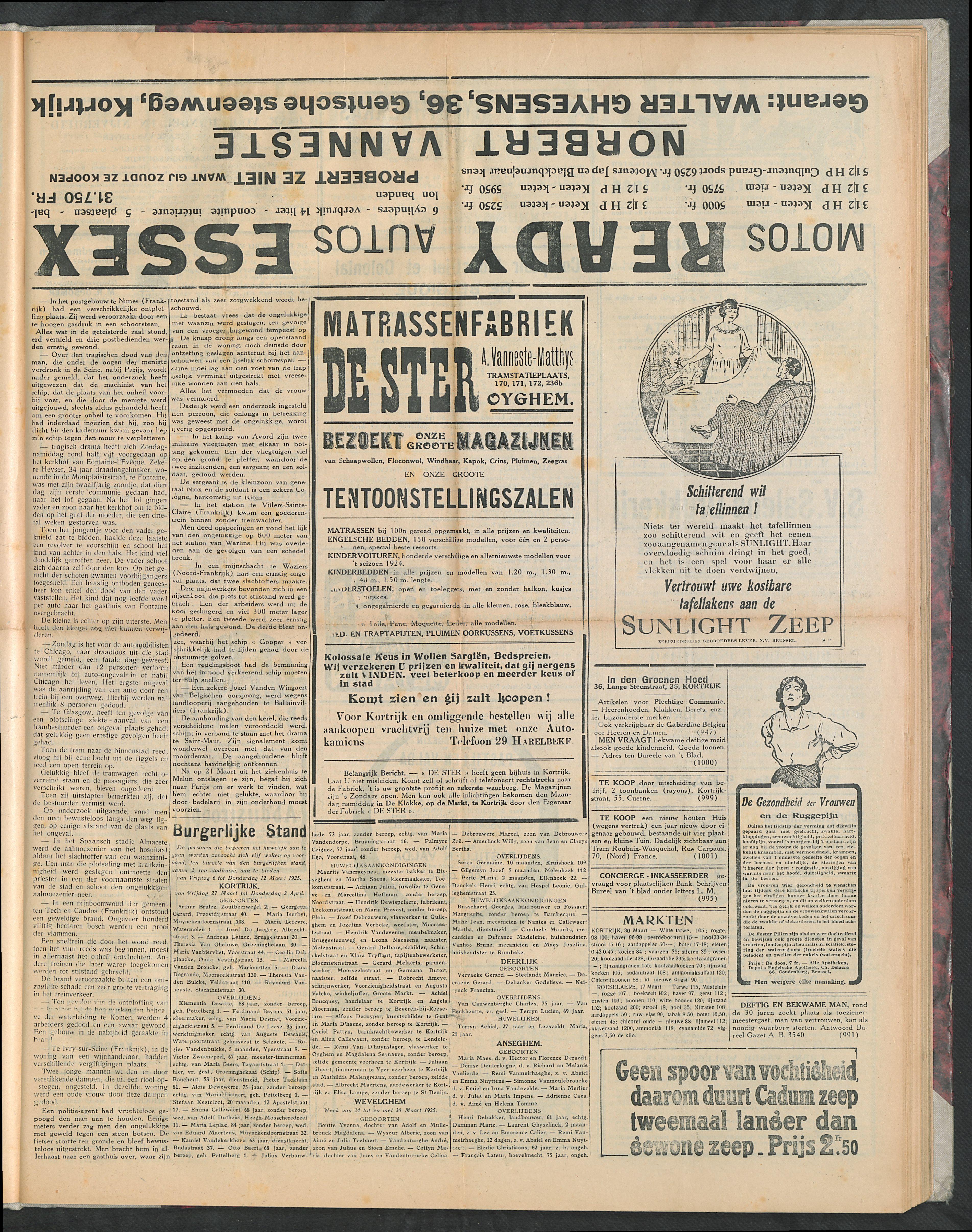 Het Kortrijksche Volk 1925-04-05 p3