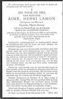 Aimé,Henri lamon