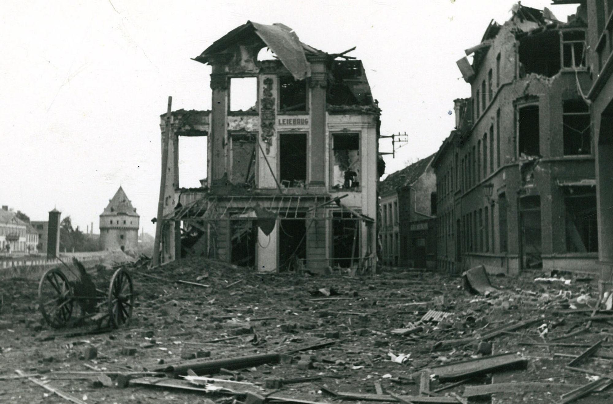 Café De Leiebrug in Wereldoorlog II