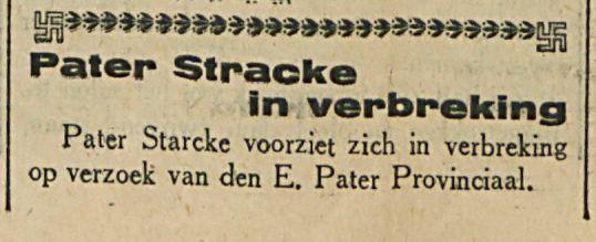 Pater Stracke in verbreking