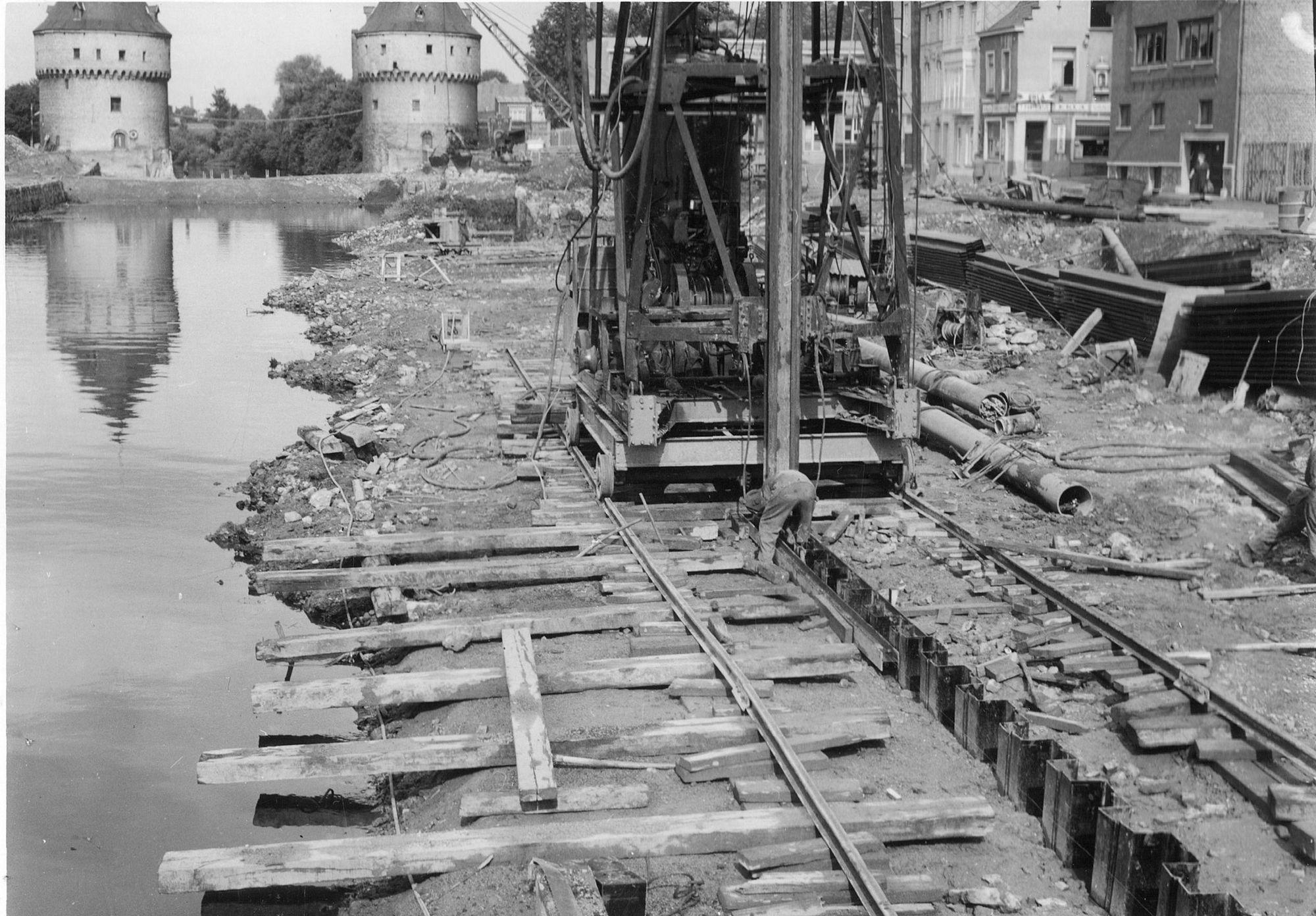Broeltorens en kaaien: restauratie 1960