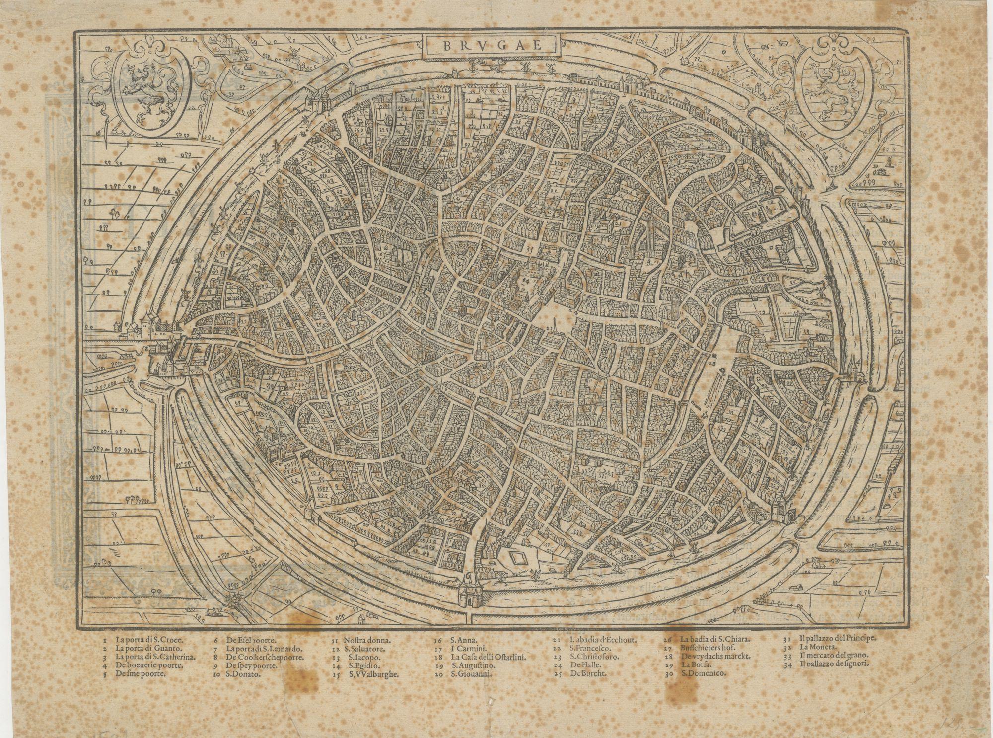 Westflandrica - stadsplan van Brugge