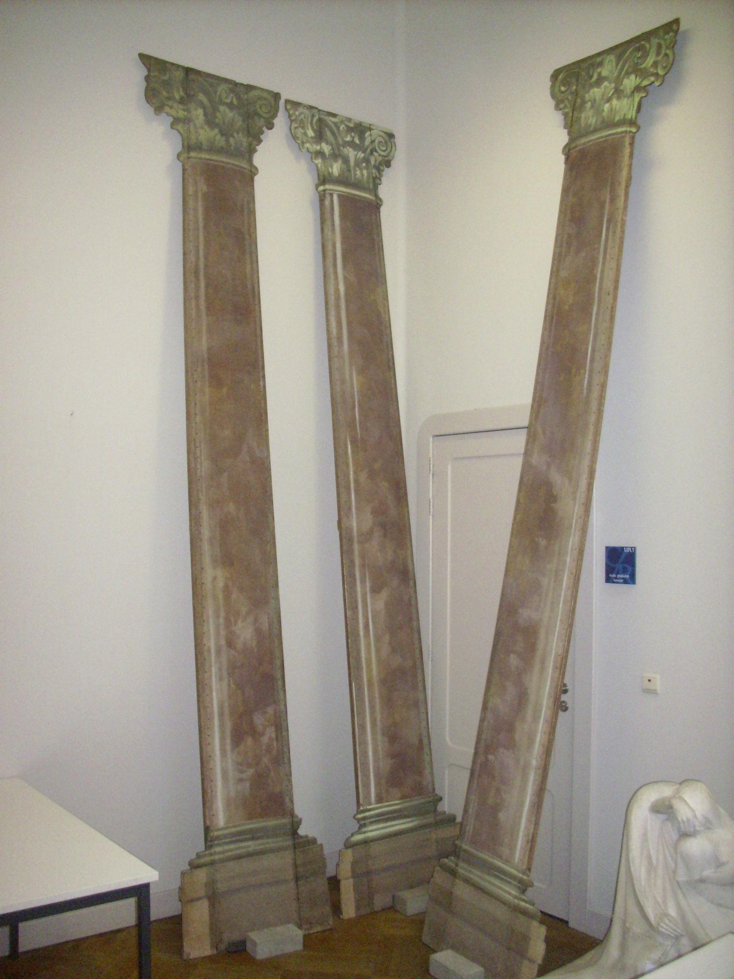 Zuil van palais romain na restauratie