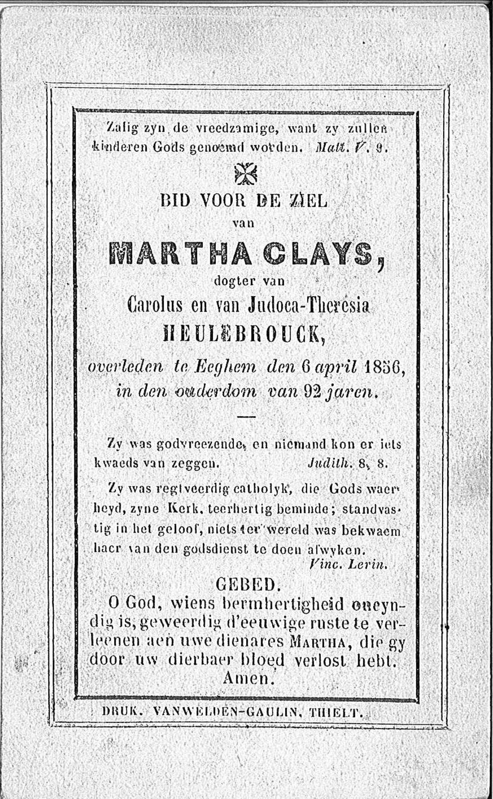 Martha Clays