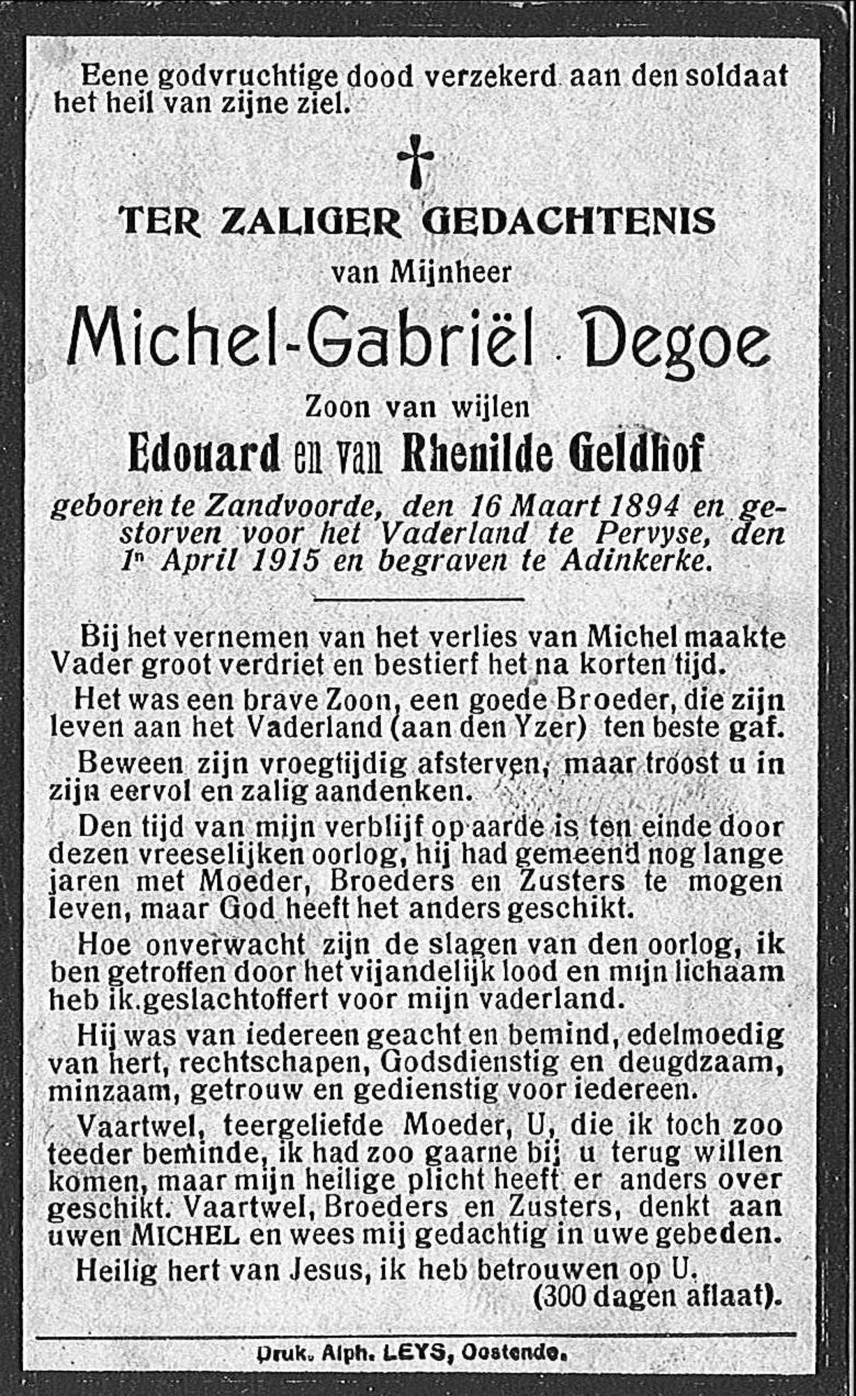 Michel-Gabriël Degoe