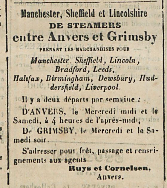 entre An vers et Grimsby