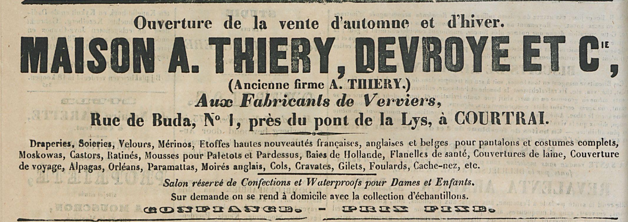MAISQN A. THIERY, DEVROYE ET C