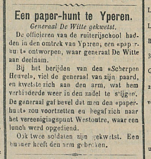 Een paper hunt te Yperen