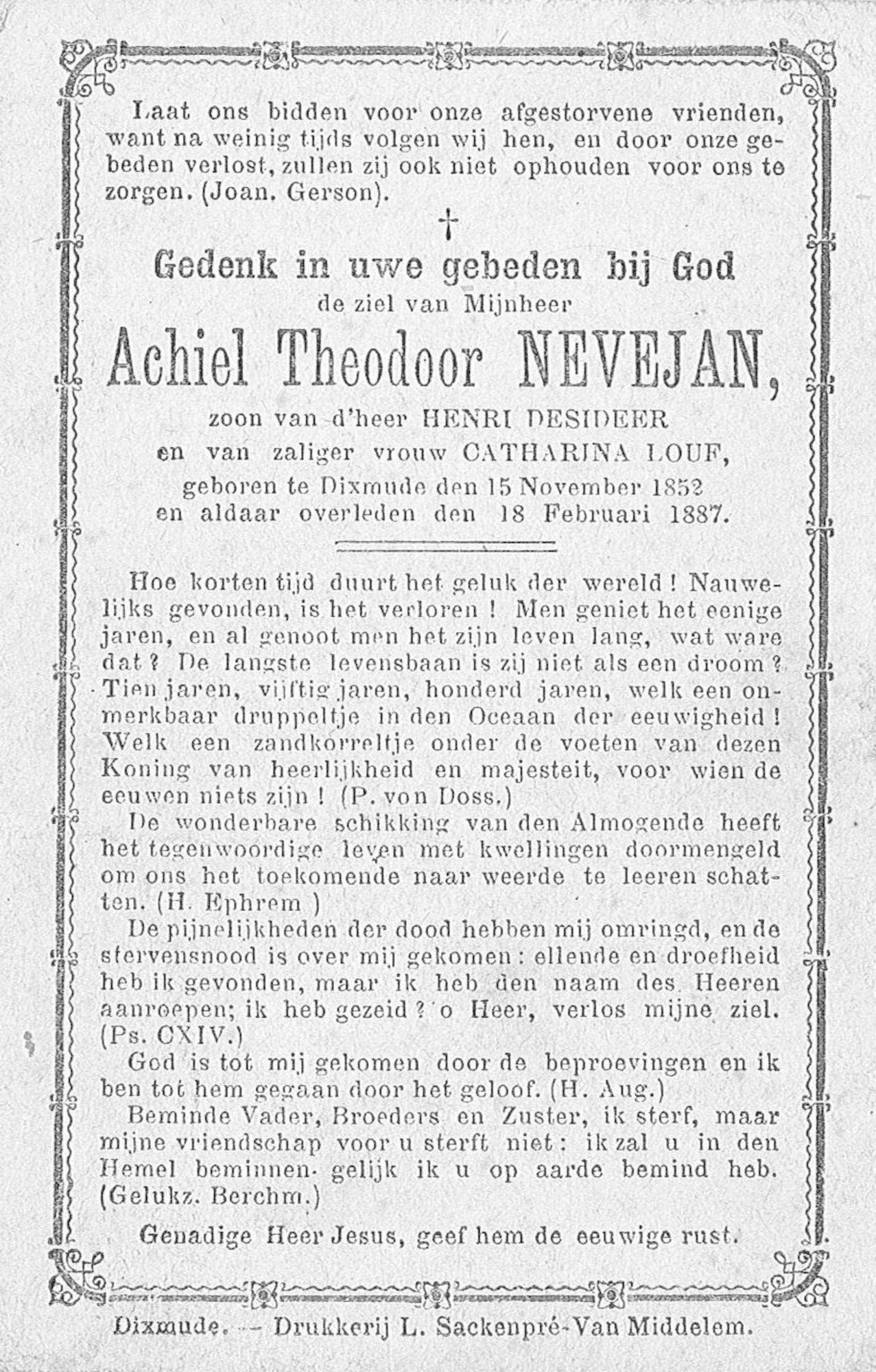 Achiel  Theodoor Nevejan