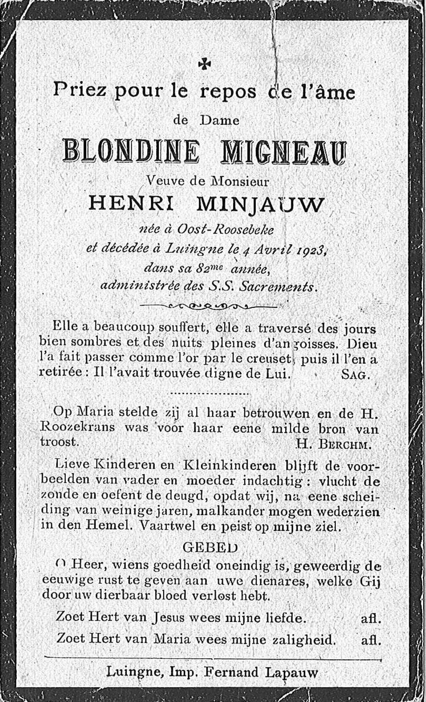 Blondine Migneau