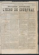 L'echo De Courtrai 1873-09-25