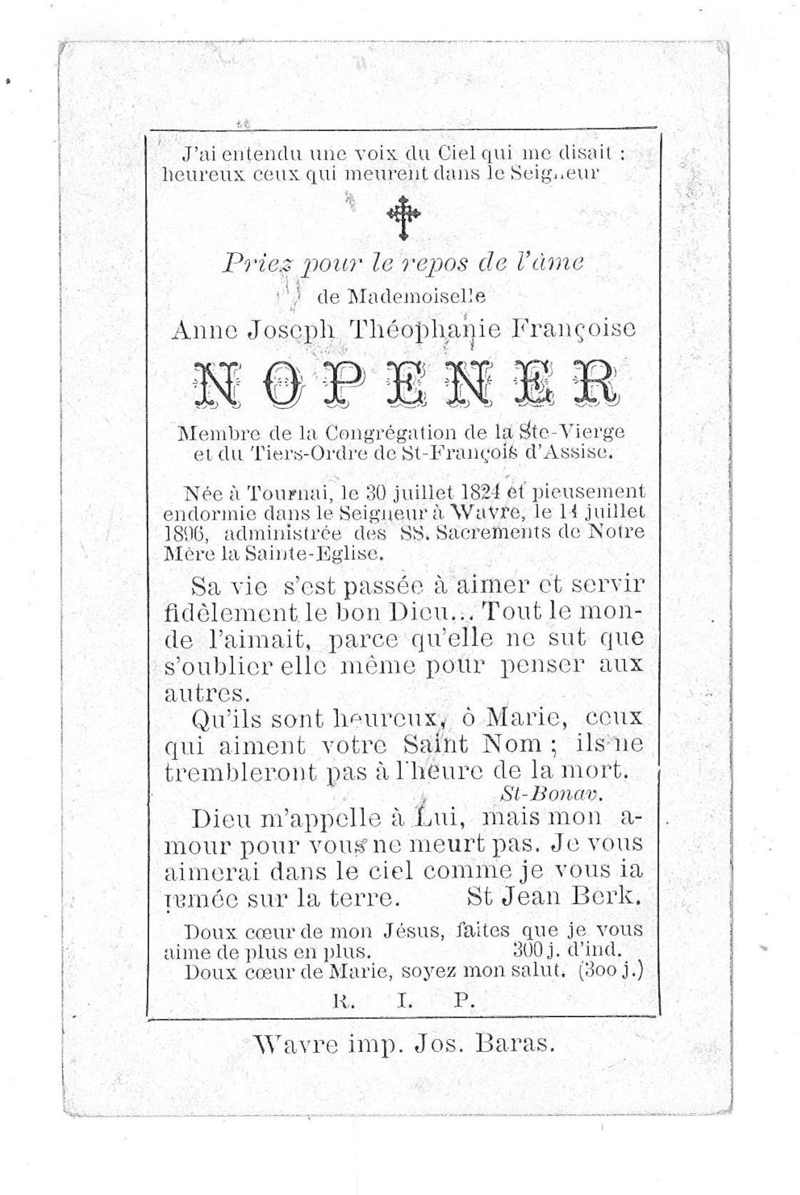 Anne Joseph Théophanie Françoise Nopener