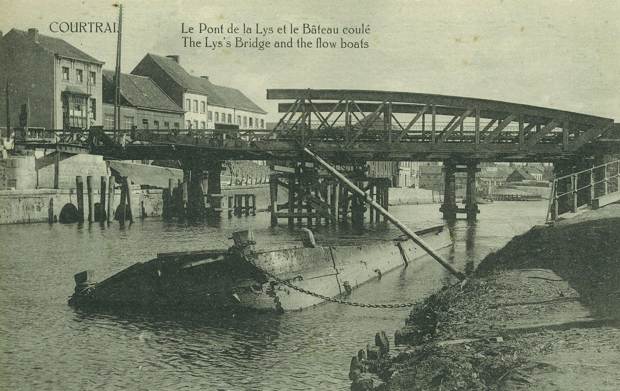De Noordbrug tijdens Wereldoorlog I