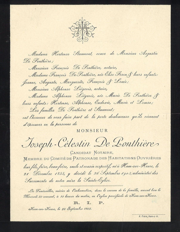 Joseph-Célestin De Ponthière