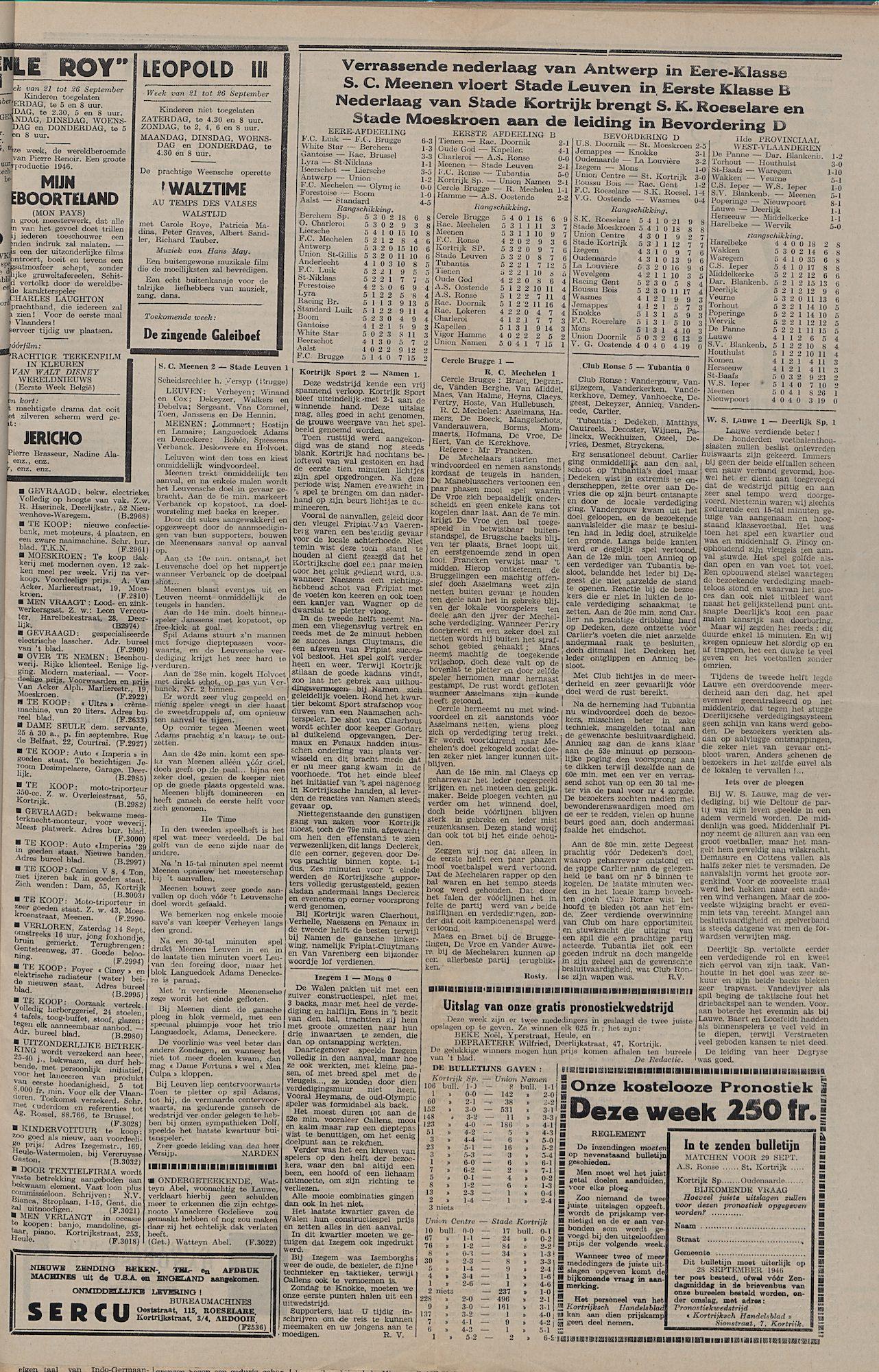 Kortrijksch Handelsblad 24 september 1946 Nr77 p3
