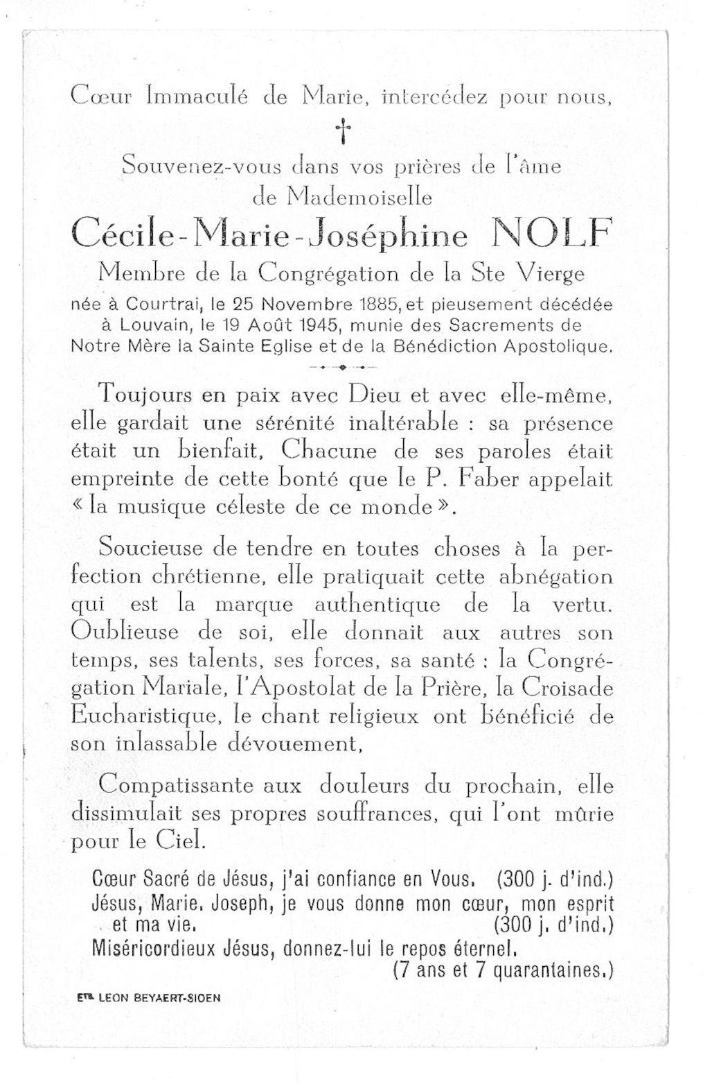 Cécile-Marie-Joséphine Nolf
