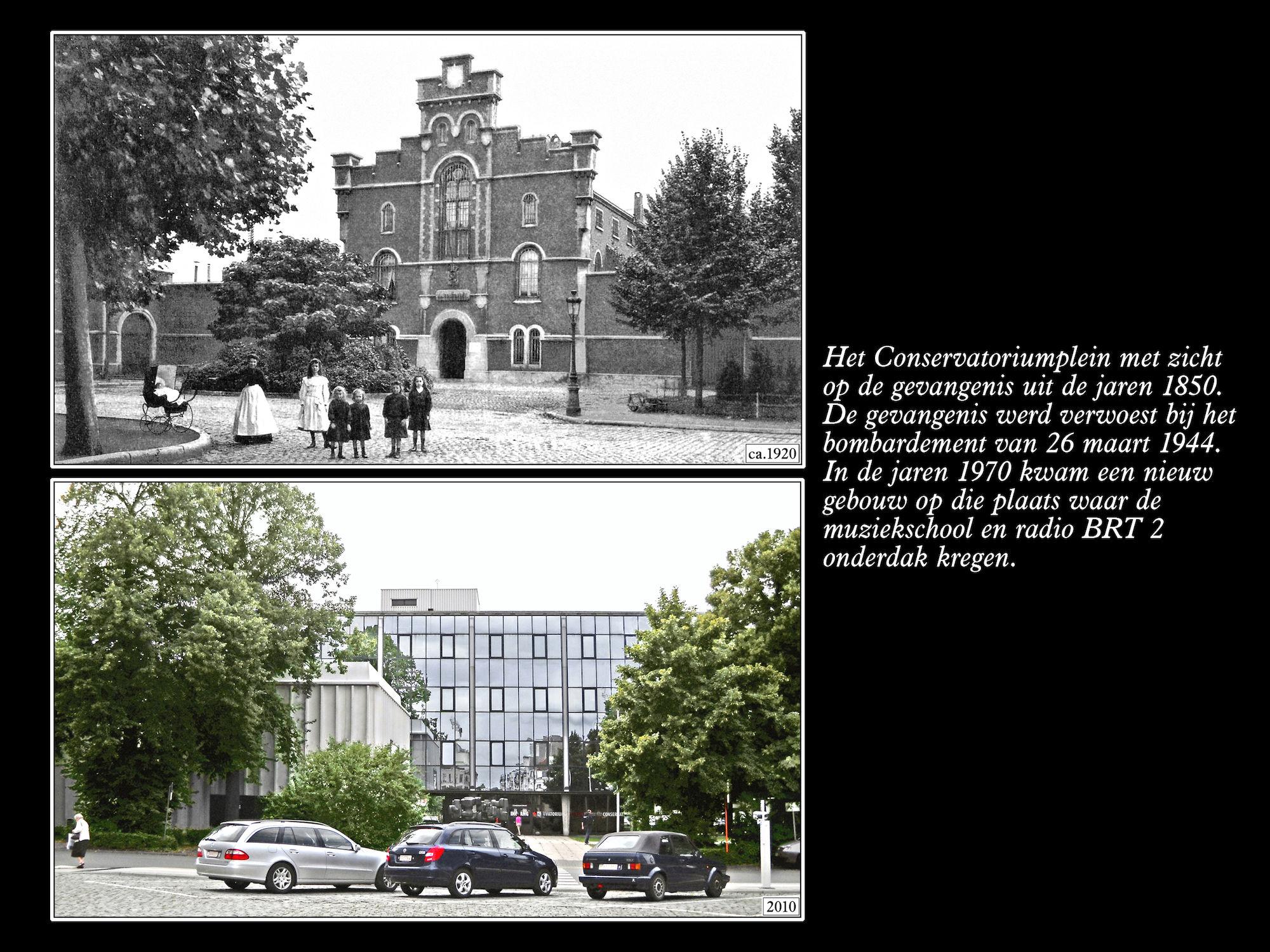 6Conservatoriumplein ca 1920 en 2010