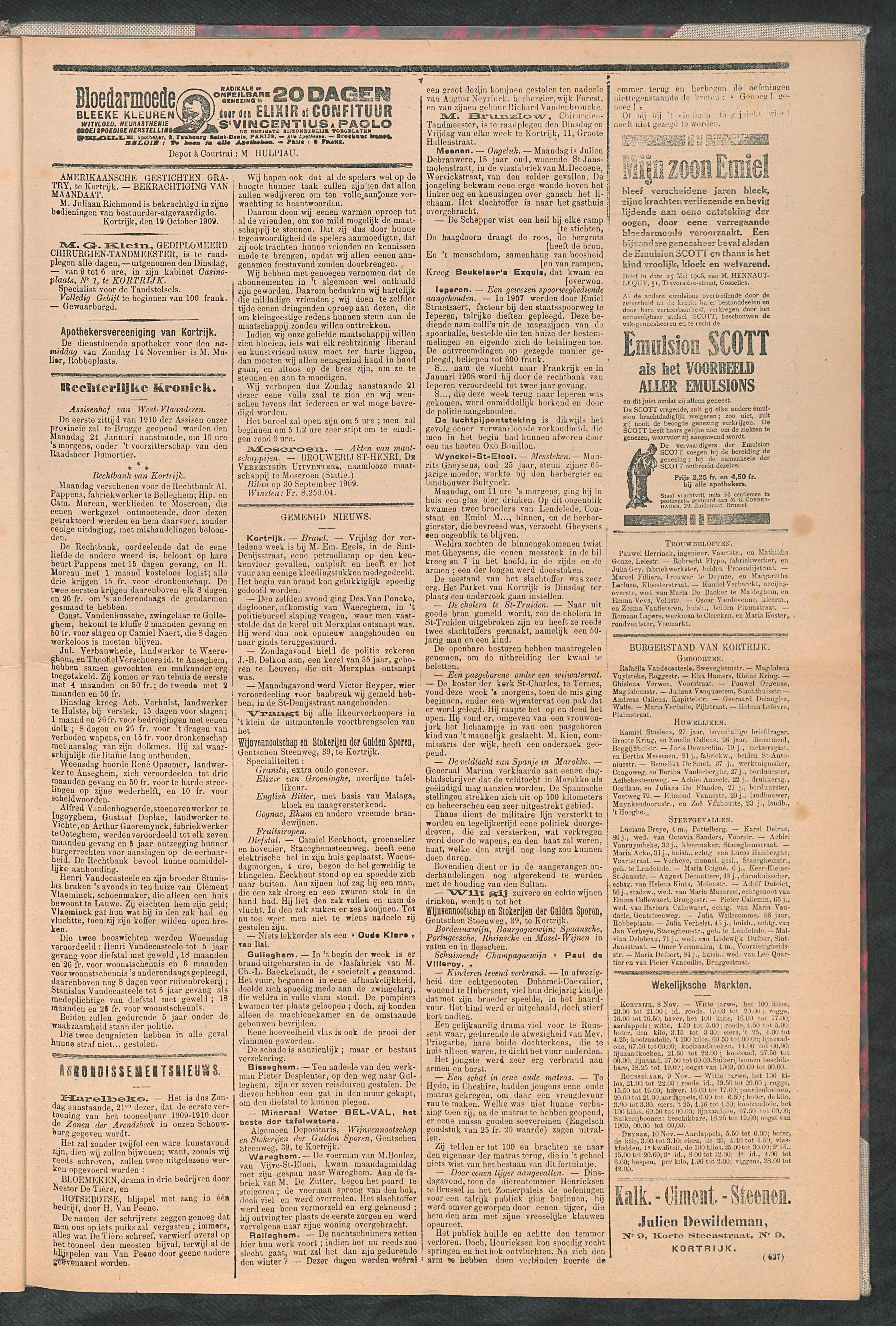 De Stad Kortrijk 1909-11-13 p3